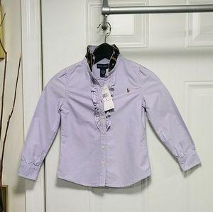 Ralph Lauren Button Dress Shirt Skull Collar 6